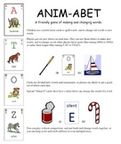 Anim-Abet spelling card game