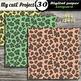 "Leopard- Animal Prints- DIGITAL PAPER-Instant Download-Scrapbooking-A4 & 12x12"""
