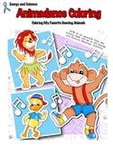 Animadance Children's Coloring Book - Dancing Animals