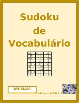 Animais (Animals in Portuguese) Sudoku