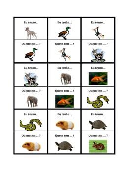 Animais (Animals in Portuguese) Eu tenho Quem tem
