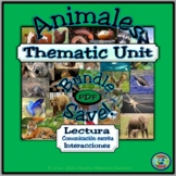 Animal Topic Thematic Unit .PDF Activity Bundle