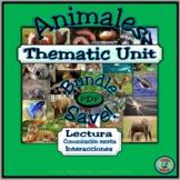 Animal Topic Thematic Unit .PDF Activity Bundle