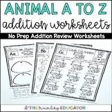 Addition Worksheets (Kindergarten)