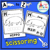 Animal A to Z Letter Scissoring - An Early Learner Animal Literacy Center