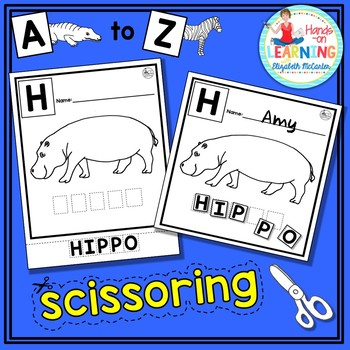 Animal A to Z Letter Scissoring - An Early Learner Animal