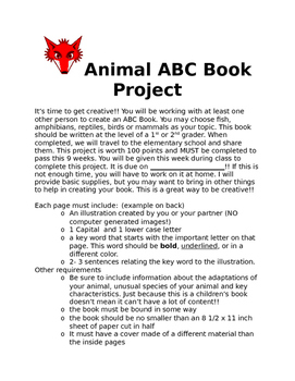 Animal ABC Book Project