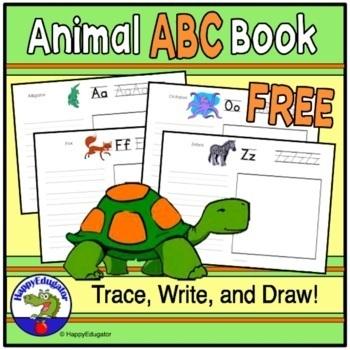 Free Animal ABC Book - Fun Literacy Activity for Zoo Theme