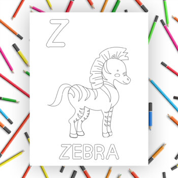 A To Z Colouring Pages Worksheets Teaching Resources Tpt