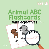 Animal ABC Flashcards with adjectives