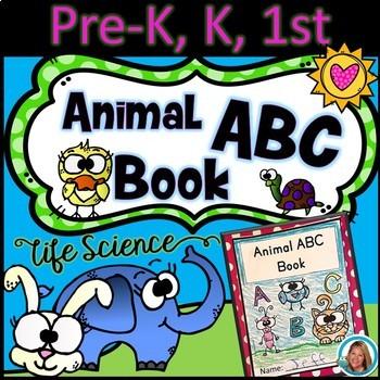 ABC Animals Handwriting Science Mini Book - Pre-K, Kindergarten, 1st Grade