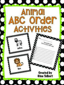 Animal ABC Order Activities
