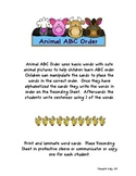 Animal ABC Sorting