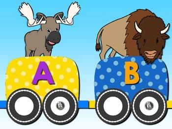 Animal ABC Train - Spanish Alphabet