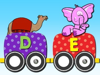 Animal ABC Train - Spanish Alphabet