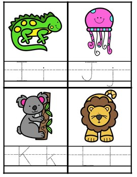 Animal ABC Writing Practice - Cards