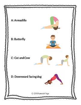 animal abc yoga poses for kidskumarah yoga  tpt