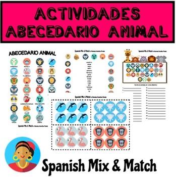 FICHAS Y ACTIVIDADES TEMÁTICAS PARA APRENDER EL ABECEDARIO Y LOS ANIMALES