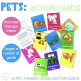 Pet Themed Gross Motor Verb Cards for Speech Therapy