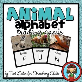Animal ALPHABET FLASH CARDS Blue Set 1