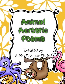 Animal Acrostic Poems