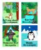 Animal Action Cards.18 cards. Digital download.