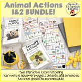 Animal Actions 1 & 2: Interactive Books to Increase MLU Bundle