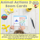 Animal Actions 2: Boom Cards to Increase MLU via Distance
