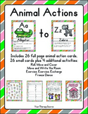 Animal Actions A to Z - Movement and Learning