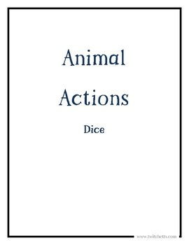 Animal Actions Activity Dice Set