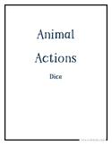Animal Actions Activity Dice Set