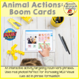 Animal Actions: Boom Cards to Increase MLU via Distance Learning