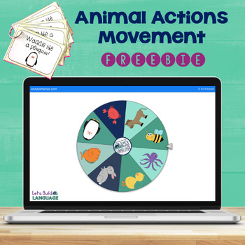 Animal Actions Movement FREEBIE
