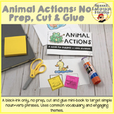 Animal Actions: No Prep, Cut and Glue