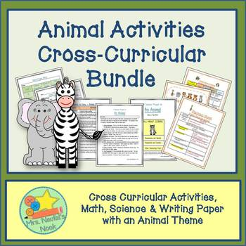 Animals Activities -  Cross-Curricular Math, Science and Writing Bundle