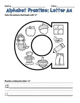 Alphabet Activities: Initial Letter Practice