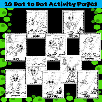 Animal Activities : Number Sense - Dot to Dot - Counting - Just Print & Go
