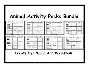 Animal Activity Packs Bundle