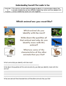 Animal Activity -Understand the Leader In You
