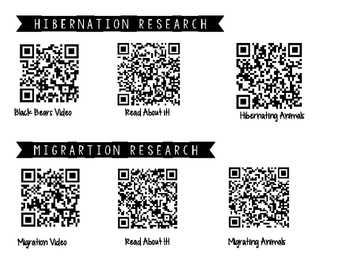 Animal Adaptaions QR Code Research Mat VA SOL 2.7a