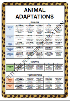Animal Adaptations - An Integrated Assessment Bundle
