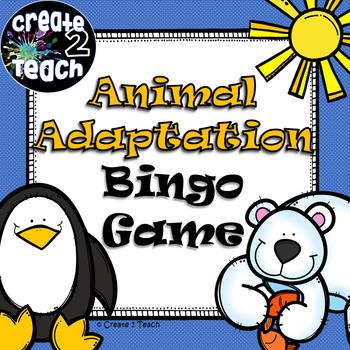 Animal Adaptation Bingo Game