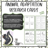 Animal Adaptations Informational Reading Research Project Common Core