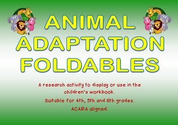 Animal Adaptations Foldables
