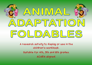 Animal Adaptations Foldables