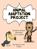 Animal Adaptation Project for 4th/5th Grade
