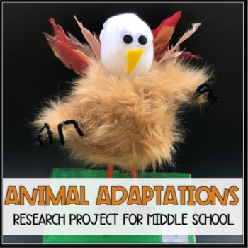 Animal Adaptation Project for Middle School (For Google & Distance Learning)