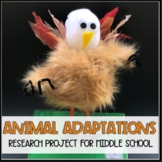 Animal Adaptation Project for Middle School (For Google &