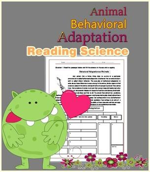 Animal Adaptation Reading Science