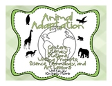 Animal Adaptation Science and Writing Stations with Technology and Art Lessons